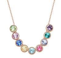 Multicolore austria crystal bead pendente della collana donne choker collana catena di gioielleria di marca accessori colorati collana a buon mercato
