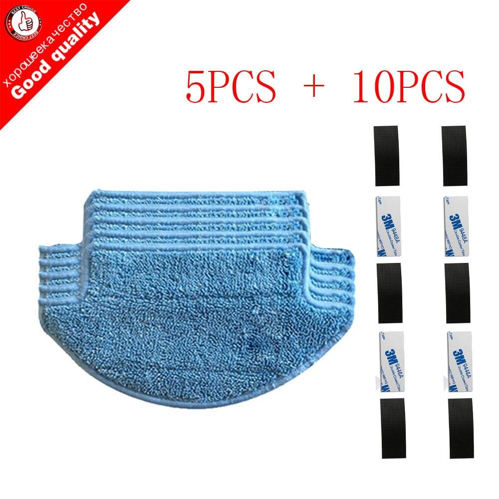 все цены на 15pcs/lot Original thickness Cloths Parts kit for Xiaomi Mi Robot Vacuum Cleaner parts mop ( mop Cloths*5+magic paste*10) онлайн
