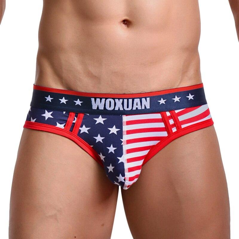 Новый бренд США с рисунком флага Для мужчин S Трусики для женщин 95% хлопок Для мужчин Нижнее Бельё для девочек сексуальное заниженной талией ... ...