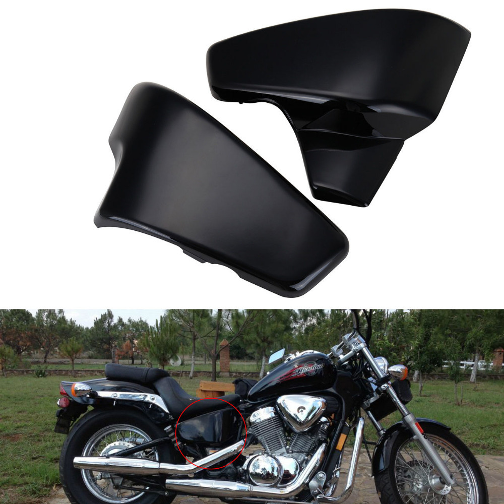 UNDEFINED ABS Plastic Black Battery Side Cover For Honda VT 600 Shadow VLX Deluxe Steed 400 600 400VLS VLX 600 1999-2008