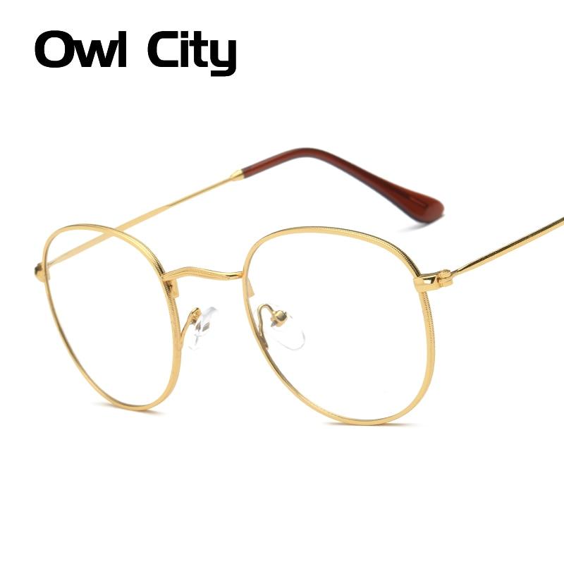 ▽Moda mujer ojo Gafas Marcos lente transparente gafas unisex retro ...
