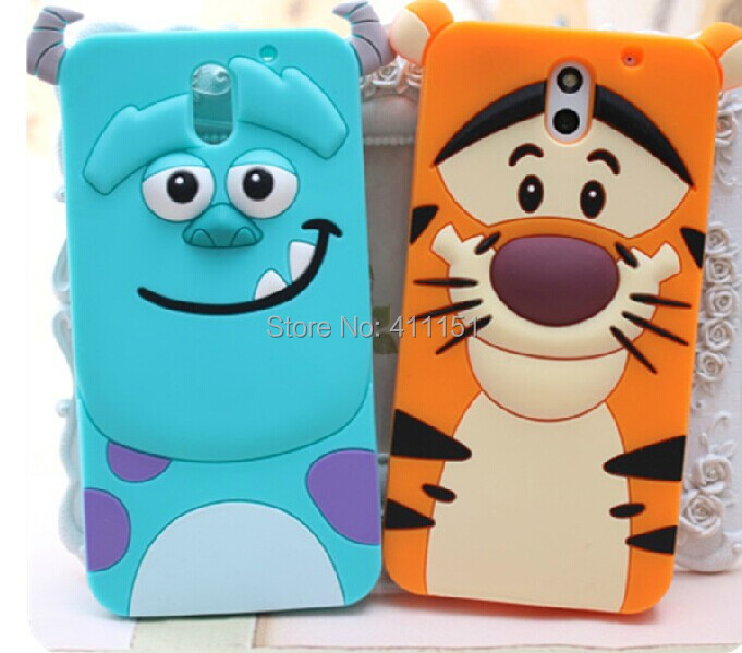 Cute 3D Cartoon Tiger Sulley Cheshire Cat Silicone Case Back Cover For ...