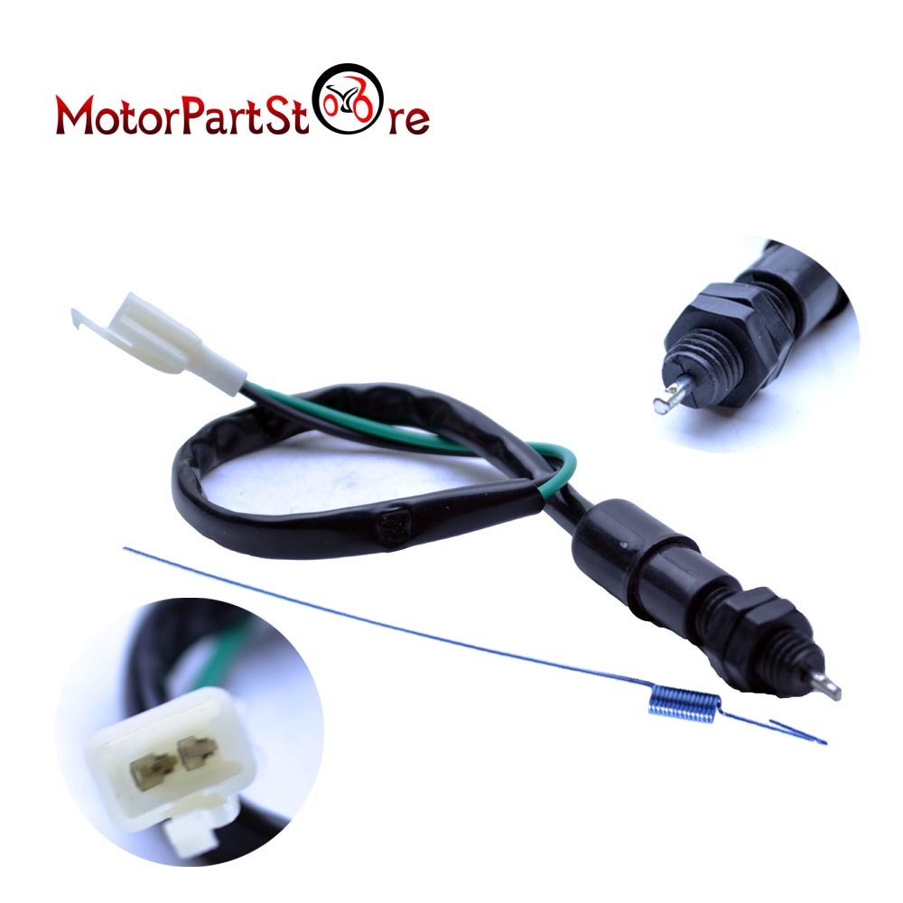 Motorcycle Drum Brake Light Switch + Spring Kit Universal For Pit Bike Quad Scooter @15