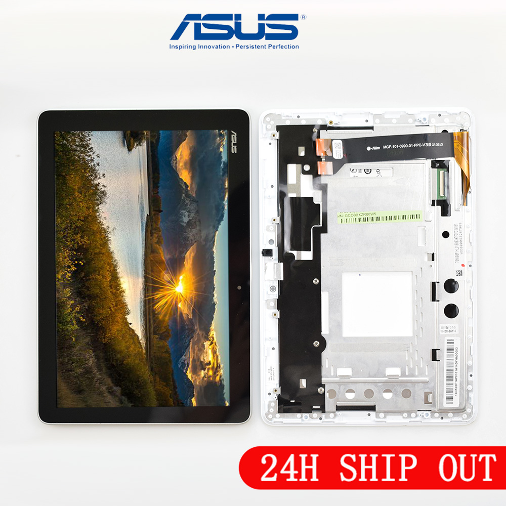New 10.1 Inch LCD Display + Touch Screen Panel Assembly With Frame For Asus Memo Pad 10 ME102A ME102 K00F