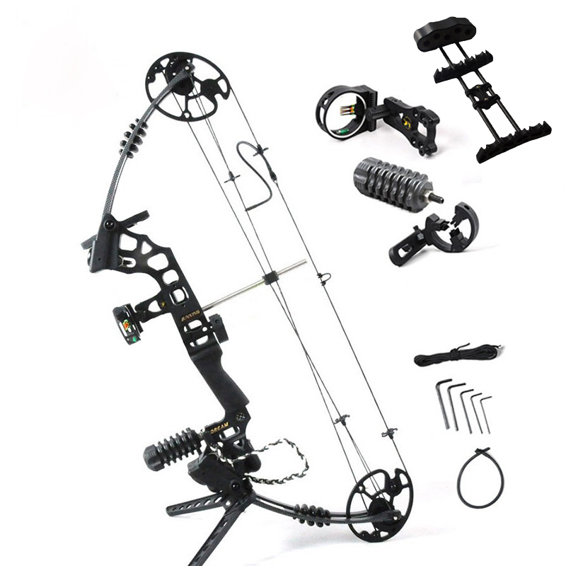 Adjustable 30-70 lbs Archery Compound Bow With Complete Accessories Powerful Outdoor Hunting Shooting Archery Bow Arrow G204 35 70 lbs powerful compound bow aluminum alloy archery bow arrow for outdoor hunting shooting