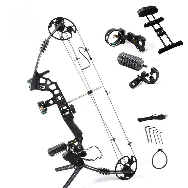 Ajustable 30-70 libras arco compuesto con accesorios completos potente caza al aire libre tiro con arco flecha G204