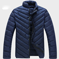2016 Big Size 6XL 5XL Black Wine Navy Solid Stand Collar Duck Down Jacket Men Winter Warm Coat