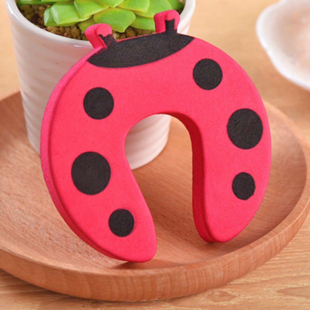 New Portable 5PCS/Set Baby Hand Pinch Guard Set Security Stopper Children Safety Cartoon Animal Door Stop Cushion