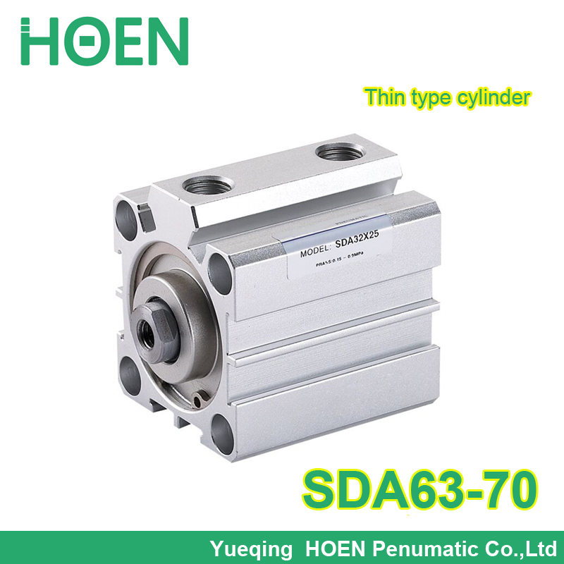 SDA63-70 SDA series double action 63mm Bore 70mm Stroke Pneumatic Compact Air Cylinder SDA63*70 Airtac Type su63 100 s airtac air cylinder pneumatic component air tools su series