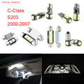 11pcs LED Canbus Interior Lights Kit Package For Mercedes-Benz For Benz C-Class S203 (2000-2007)