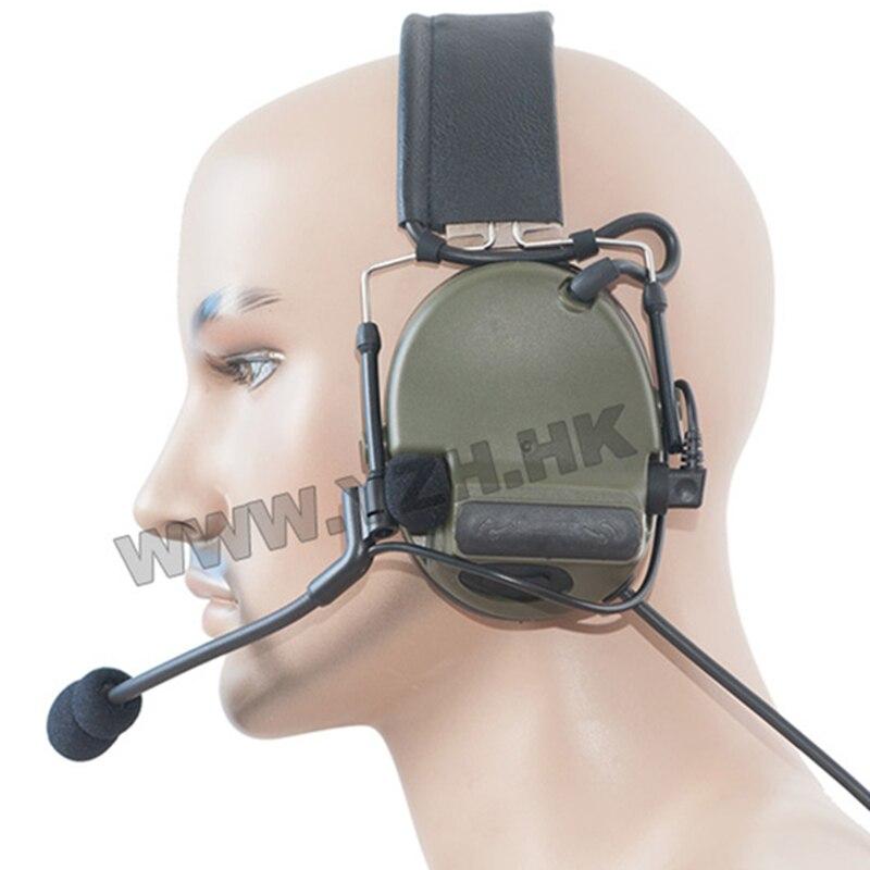 Écouteur tactique de réduction de bruit de micro-micro ComTac III double Com pour la Radio de talkie-walkie de PRC-152 de PRC-148 de TRI HARRIS de TCA