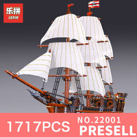 LEPIN 22001 1717Pcs The Movies Series Pirate Ship Warships Model Building Block Briks Educational Toys Model