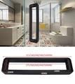 Premintehdw mate negro cuadrado redondo ducha caja puerta de cristal tirador entrada comercial residencial