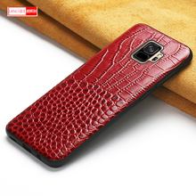 For Samsung Galaxy S8 S8plus S9 S10 Note 8 9 Thermal capa cover LANGSIDI Genuine Leather Original Shockproof Coque phone case