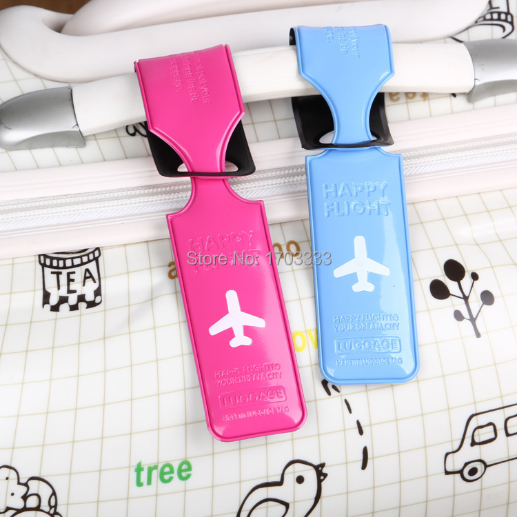 Free shipping COOL Suitcase Shaped Soft pvc Luggage Tag 100PCS/lot Mix colors for Chirstmas gifts #01