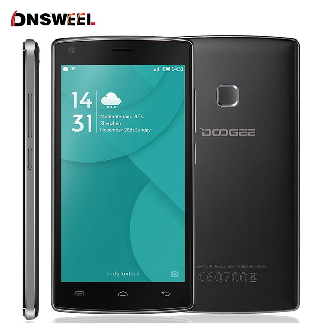 New Doogee X5 MAX PRO 5.0inch HD 4G Smartphone MTK6737 Quad Core 2GB RAM+16GB ROM Cell Phone 4000mAh Mobile Phone Fingerprint