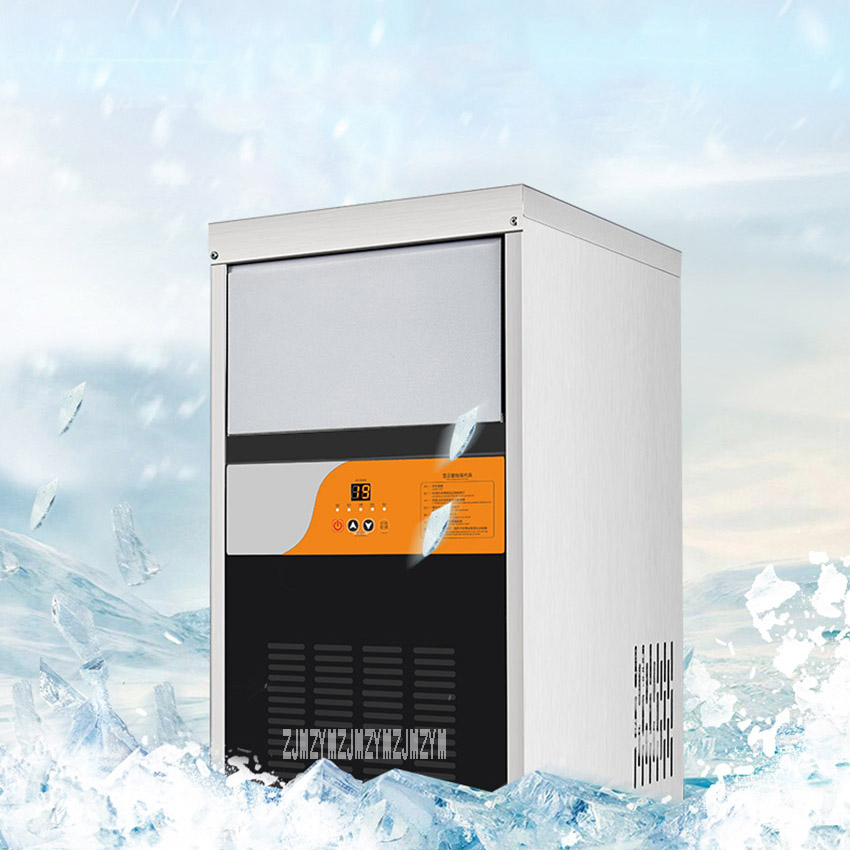 NX-60 Ice Machine Commercial Small Mini Square Ice Machine 300W Large Efficiency Automatic Tea Shop Ice Machine High Production