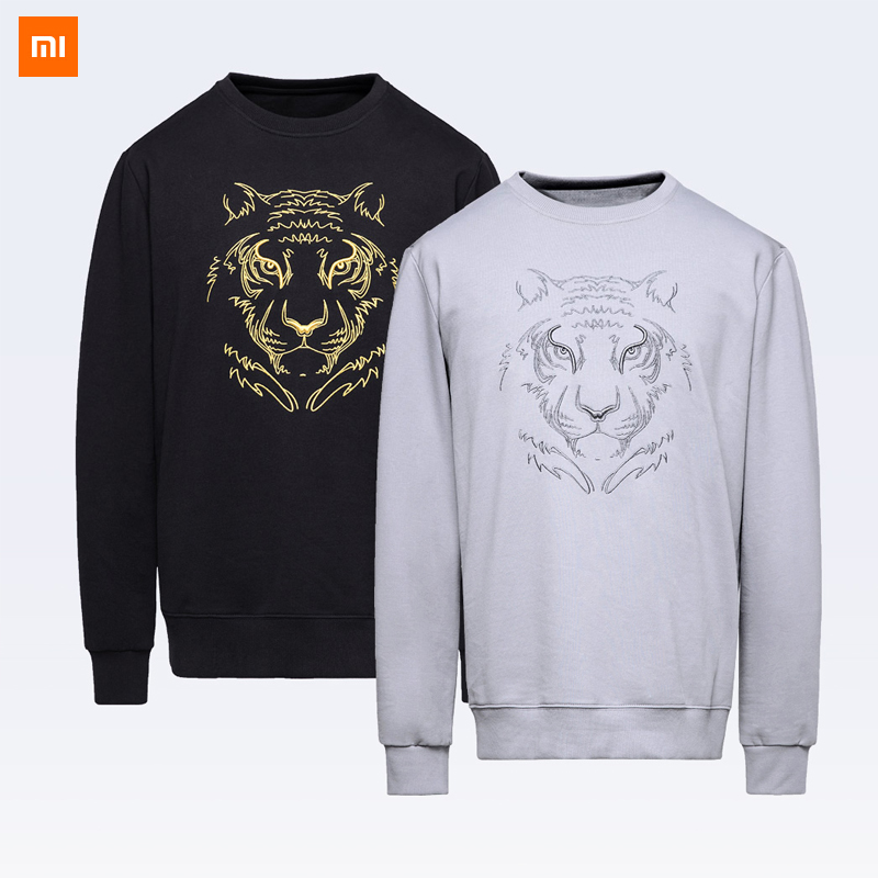 Xiaomi Mijia Youpin MIKE BOY Embroidered tiger head sweater men 5 colors warm Sweatshirt