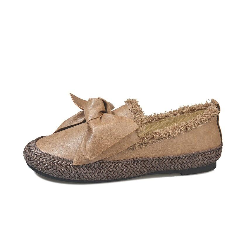 Bonbons Dames Chaussures Med A790 Papillon Bout Nouveau Noir marron Rond Zapatos Chaussure Talons Mujer Femme De Mode Casual Sapato blanc Femmes t4wqY7w