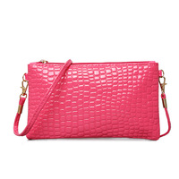 Women Clutch Bags Simple Design PU Leather Crocodile Pattern Envelope Shoulder Ladies Small Messenger Handbag Female