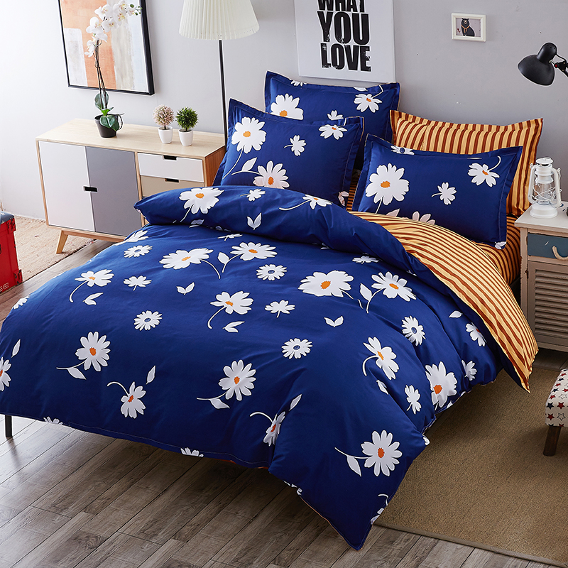 Home Textiles 100%Cotton High Quality Duvet Cover 3/4 Pcs Twin Full Queen Size Set Of Bed Linen Luxury Bedding Set