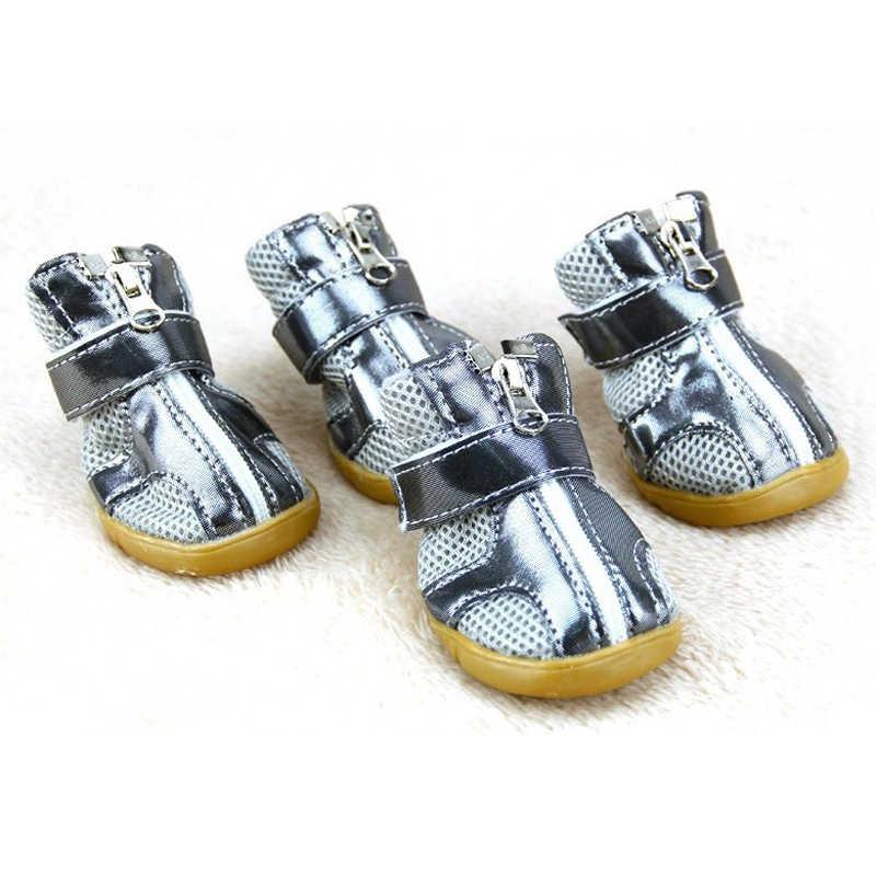 Yüksek kaliteli yay yaz nefes pet köpek ayakkabı Sığır tendon Tabanlar küçük köpek ayakkabı nemli yerleşimler çizmeler köpekler için ZL271