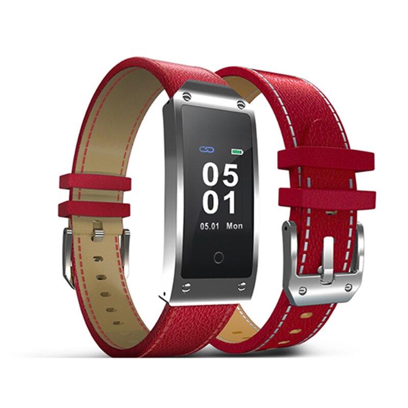 Y2L dames Smartwatch étanche Sport Bracelet Bluetooth élégant en cuir montre tension artérielle activité Tracker Cycle menstruel