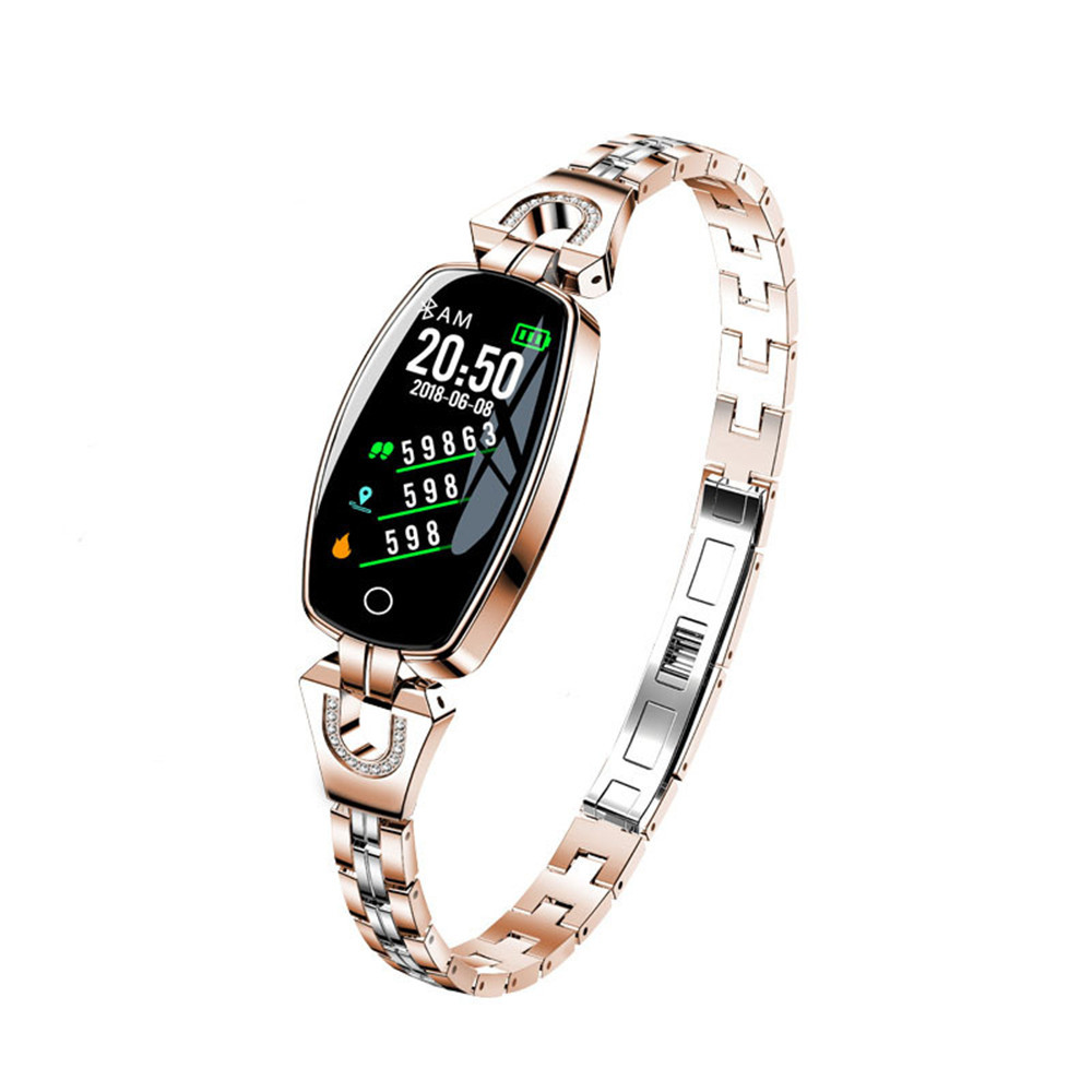 Newest Women Lady Fashion Smart Wristband Heart Rate Blood Pressure Smart Bracelet Fitness Tracker Smart Watch