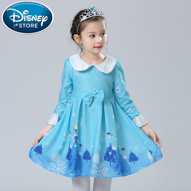 Disney Frozen Dress Newest Baby Girl Kids Elza Anna