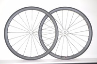 DEERACE 1360g SUPER LIGHT 30mm 700c Carbon Road CLINCHER Bike Wheels STRAIGHT PULL TUBELESS Ready WHITE POWERWAY R36 HUBS