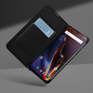 Image 5 - Oneplus 6T Case Flip Smart Leather Cover Original Official One Plus 6 6T Sleep Wake Up Card Slot Phone Cases Oneplus6 Back Capa