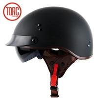 TORC Chopper Bike Style Motorcycle Helmet T55 Series Novelty Safety Motorbike Helmet With Inner Sunglasses DOT