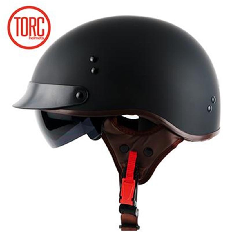 TORC moto chopper estilo motocicleta casco T55 serie novedad seguridad moto con sol interior DOT aprobado