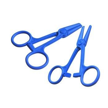 50Pcs/Lot Straight Head Scissors Style Disposable High Temperature Sterilization Sterile Medical ABS Hemostatic pliers
