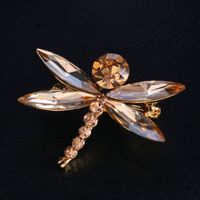 Luxury Dragonfly Brooch Pin Austrian Crystal Rhinestone Animal Brooches for Women Party Jewelry Gift broche femme bijoux de luxe