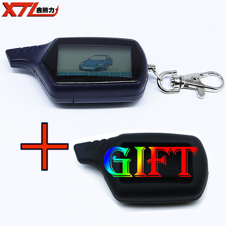 B6 Twage LCD Remote Control Key Fob with LOGO Silicone Case for starline B6 car remote