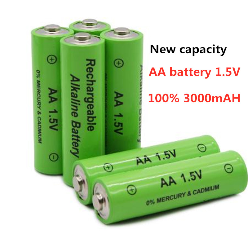 New Tag 3000 MAH Rechargeable Battery AA 1.5 V. Rechargeable New Alcalinas Drummey For Toy Light Emitting Diode