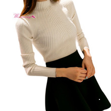 2017 Autumn&Winter Women O-Neck Pullovers Long Sleeve Knitted Sweaters Cashmere Blended Sweater
