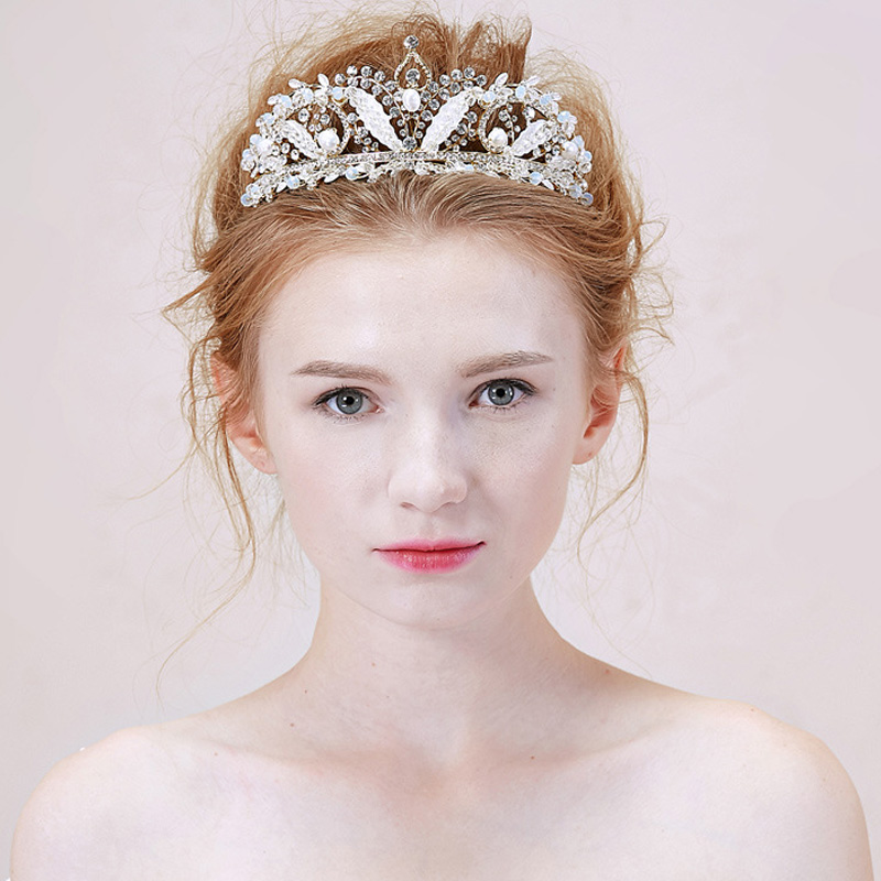 Wedding Hairstyles With Tiara And Veil: Crown Tiaras Wedding Bridal Veil Crowns Crystal Headpiece