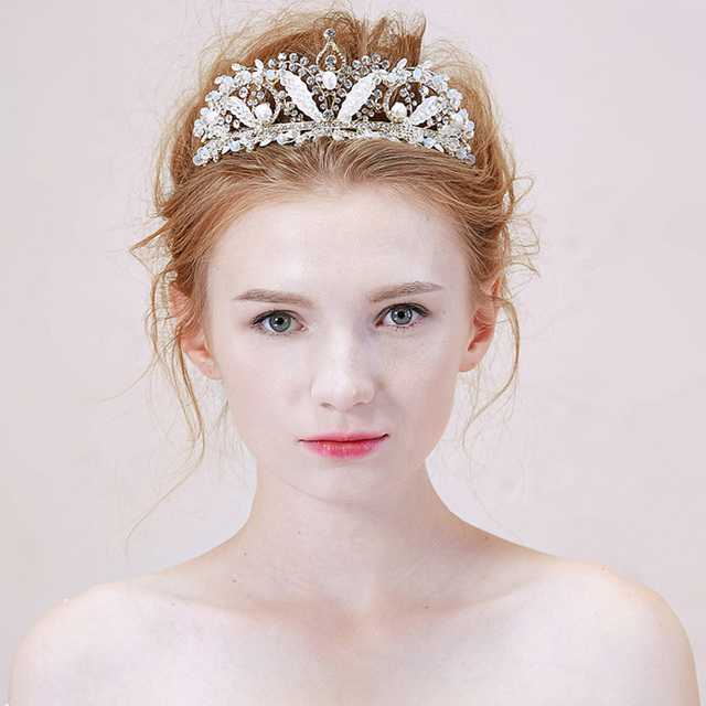 Crown Tiaras Wedding Bridal Veil Crowns Crystal Headpiece Tiara Headband Hair Accessories