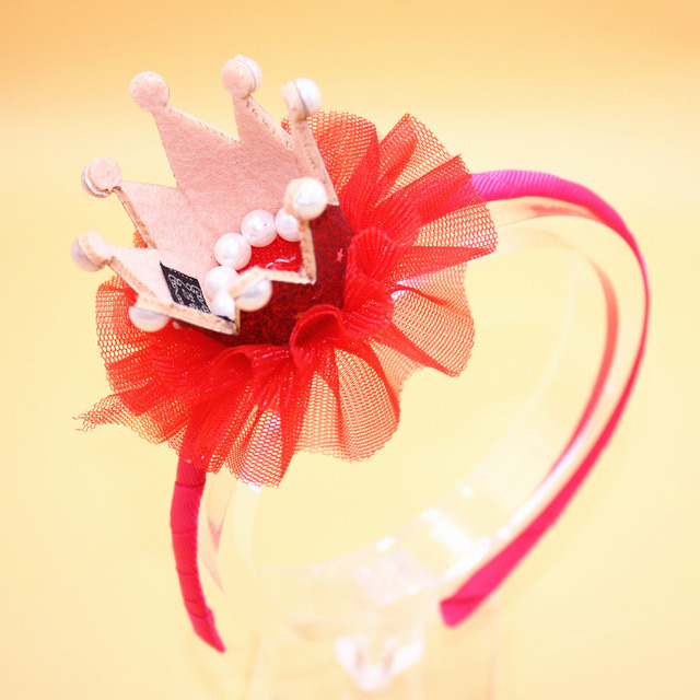Hairband With Crown Imitation For Girls