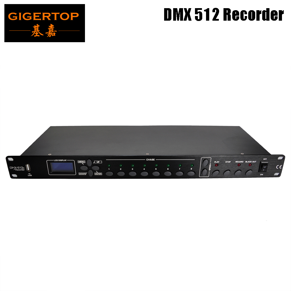 TIPTOP Stage Light TP-D1370 512 DMX Recorder USB Disk Backup Program Download CE UL GB Certification Microphone And Audio Device
