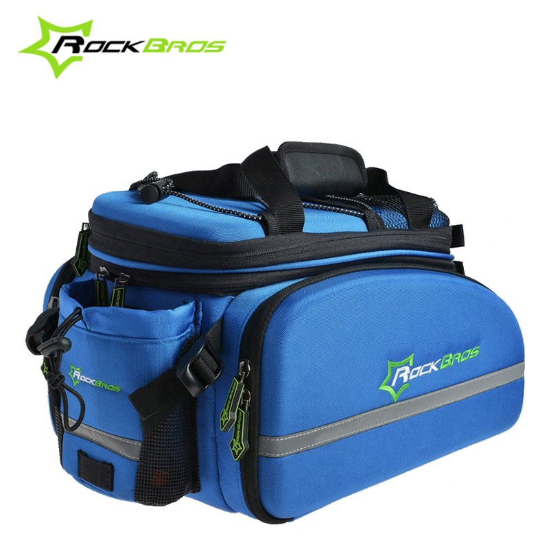 ROCKBROS Big Capacity Cycling Rack Bag Bicycle Bag Rear Trunk Bag Carry Bag Mountain Bike Backpack Panniers roswheel 50l bicycle waterproof bag retro canvas bike carrier bag cycling double side rear rack tail seat trunk pannier two bags