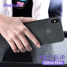 iHaitun Luxury Non-Slip Case For iPhone XR MAX XS X Cases Thin Drop Transparent Back Silicone Slim Cover