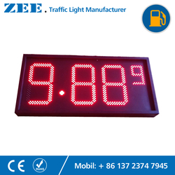 Gas Station LED Price Sign 8 inches LED Price Signal Oil Station Wireless Remote Control Price Display