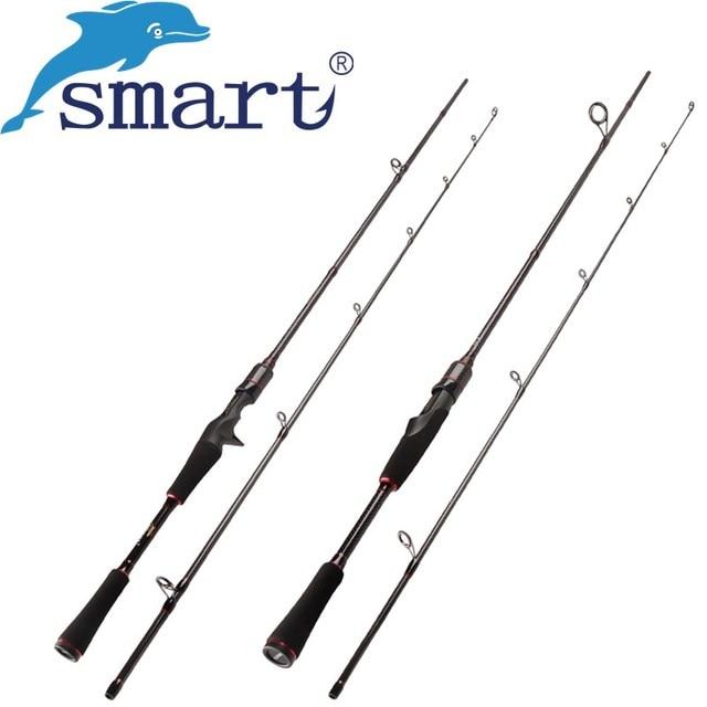 SMART 2Sec 1.8M 2.1M 7-25g/5-15lb/M Power Spinning Casting Fishing Rod Carbon Fishing Pole Baitcasting Stick Vara De Pesca Olta
