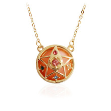 Anime Sailor Moon Star Metal Pendant Necklace Cosplay accessories girl gift