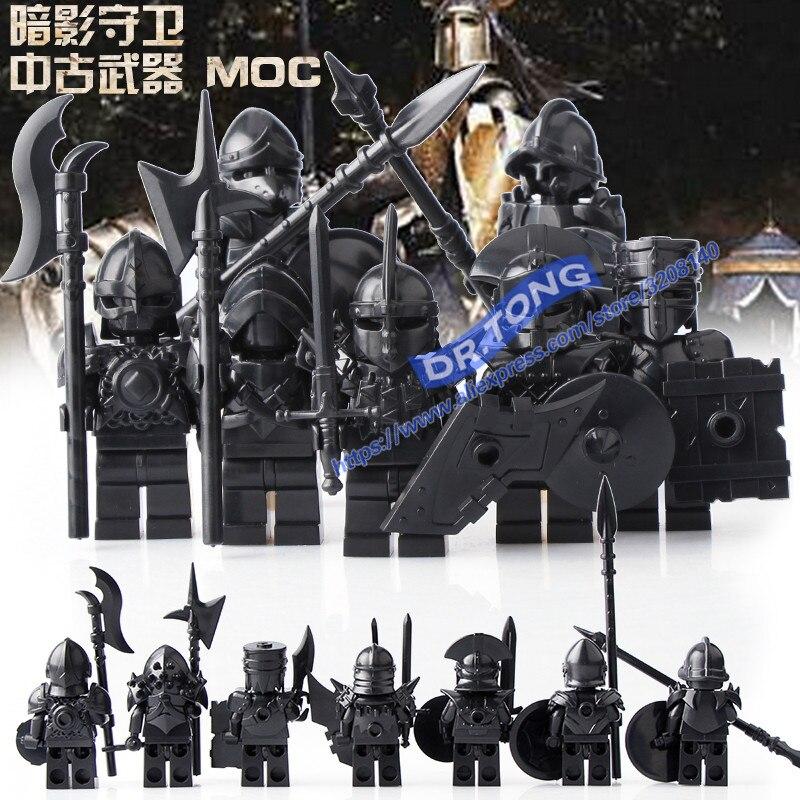 цена DR.TONG Medieval Knight Game of Thrones Unsullied Bricks Set Model Building Blocks Brick Toys Gift For Children онлайн в 2017 году