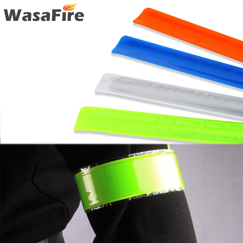 Hot Sale Reflective Tapes Bike Stickers Running Cycling Reflective Strip Safety Warning Light Bicycle Bind Pants Leg Strap