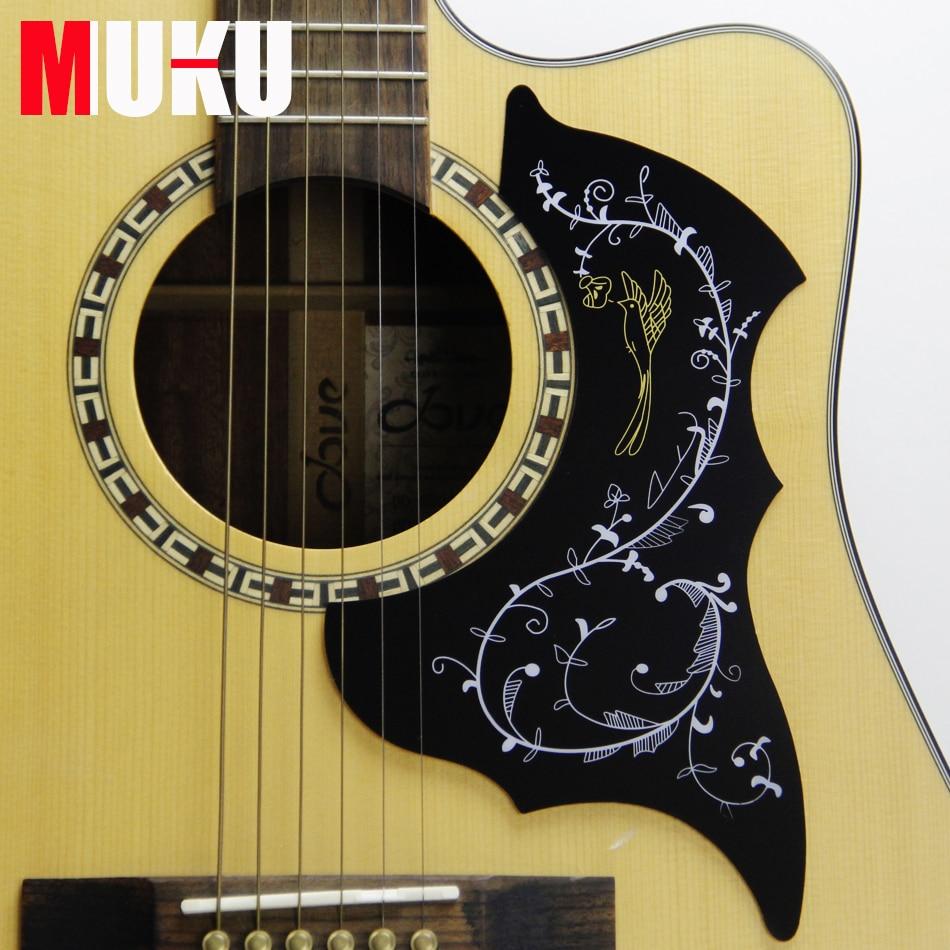 classic design 40 41 inch acoustic guitar scratch plate pickguard with hummingbird flower. Black Bedroom Furniture Sets. Home Design Ideas